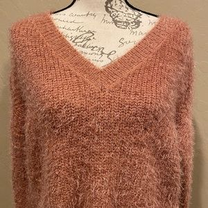 Women's Pink Rose Comfy Sweater French Apricot M